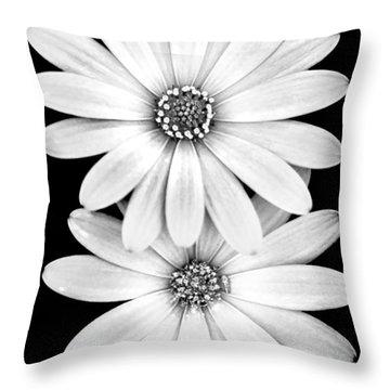 Two Flowers Throw Pillow by Az Jackson