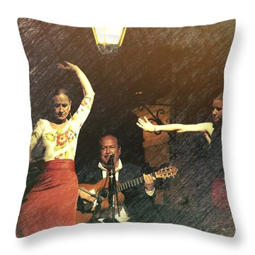 Two For Flamenco Throw Pillow