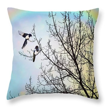 Two For Joy #nurseryrhyme Throw Pillow