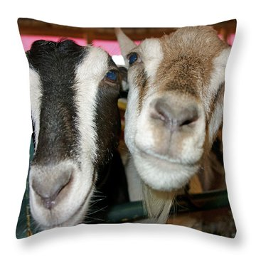 Two Goats Throw Pillow