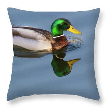 Two Headed Duck Throw Pillow