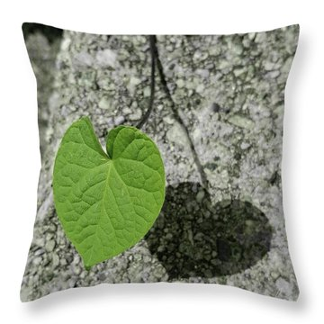 Throw Pillow featuring the photograph Two Hearts Entwined by Bruce Carpenter