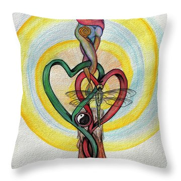 Two Hearts Throw Pillow