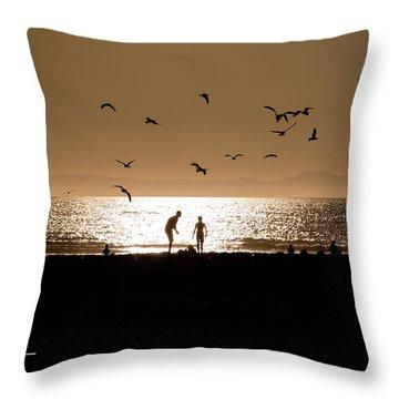 Two In Sun Throw Pillow