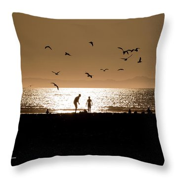Two In Sun Throw Pillow