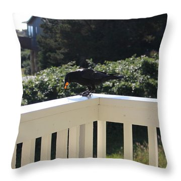 Throw Pillow featuring the photograph Two In The Beak by Marie Neder