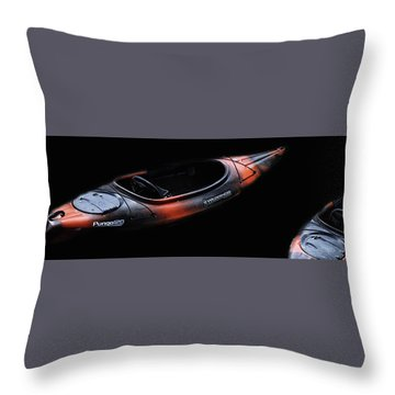 Two Kayaks - Isolated Throw Pillow
