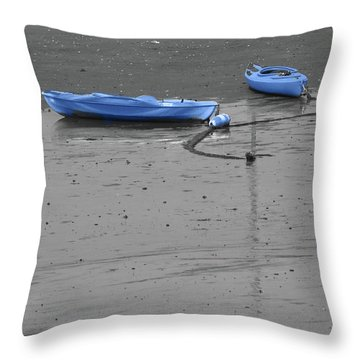 Two Kayaks Throw Pillow