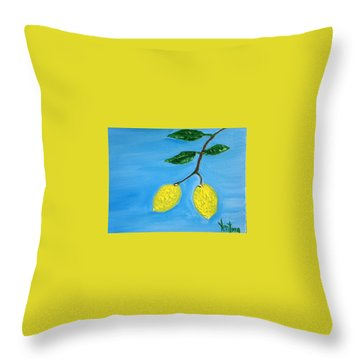 Two Lemons For Karen Throw Pillow