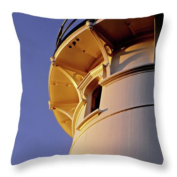 Two Lights, Cape Elizabeth Throw Pillow