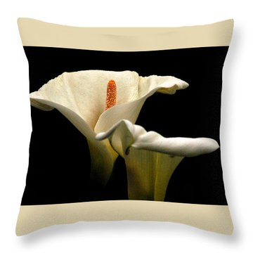 Throw Pillow featuring the photograph Two Lilies by Howard Bagley