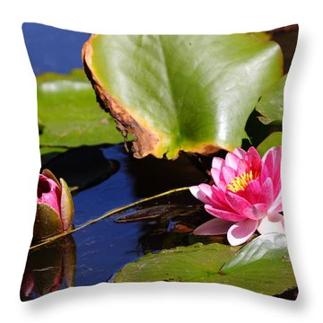 Throw Pillow featuring the photograph Two Lilies by Richard Patmore