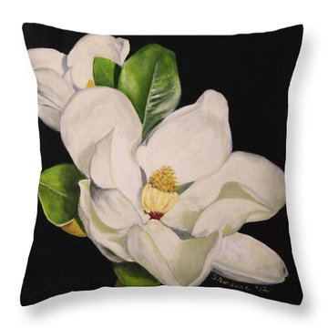 Two Magnolias Throw Pillow