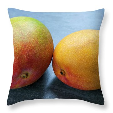 Two Mangos Throw Pillow by Elena Elisseeva