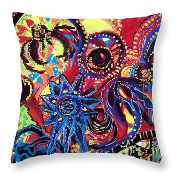 Elements Of Creation Throw Pillow