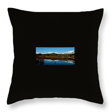 Two Med River Reflection Throw Pillow