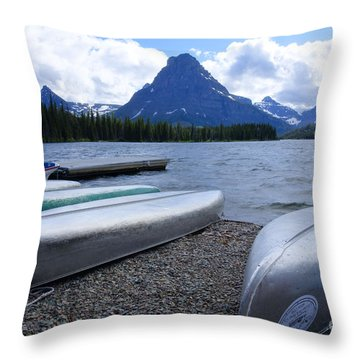 Two Medicine Lake Throw Pillow by Idaho Scenic Images Linda Lantzy