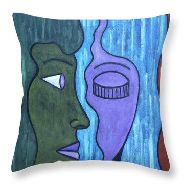 Two Minds Throw Pillow by Patrick J Murphy