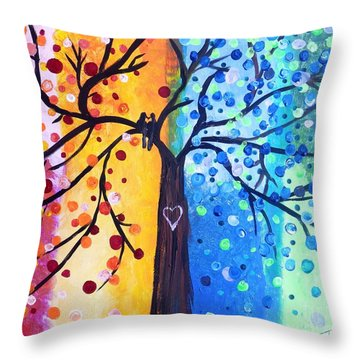 Two Moments Throw Pillow