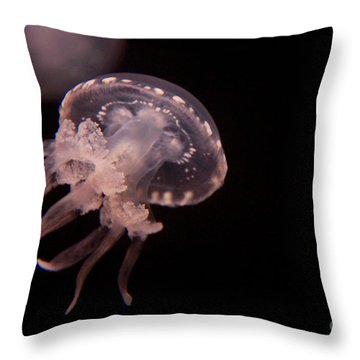 Two Moon Jellies Throw Pillow