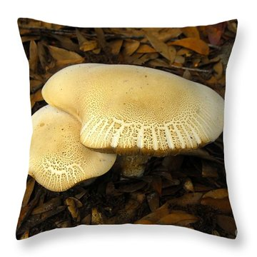 Two Mushrooms Throw Pillow by David Lee Thompson