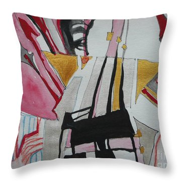 Two Musicians Throw Pillow