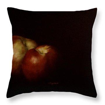 Two Nectarines Throw Pillow