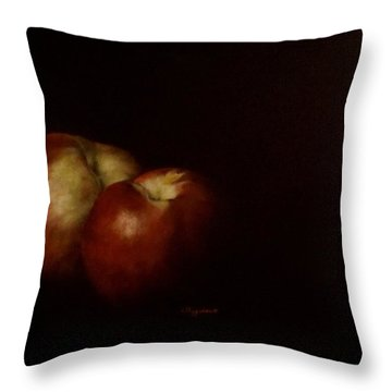 Two Nectarines Throw Pillow
