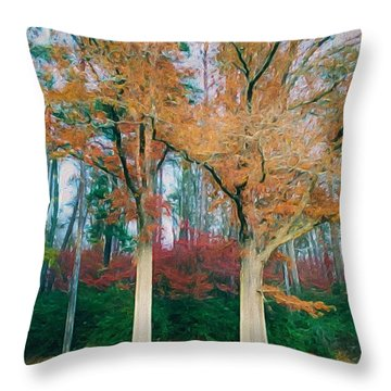 Two Oaks Throw Pillow