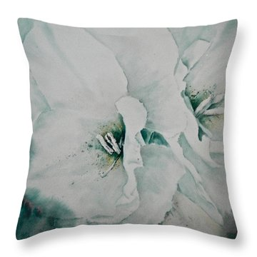 Two Of A Kind Throw Pillow by Carolyn Rosenberger