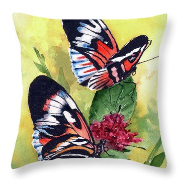 Throw Pillow featuring the painting Two Of A Kind by Sam Sidders