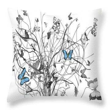 Two Of A Kind  Throw Pillow by Sladjana Lazarevic