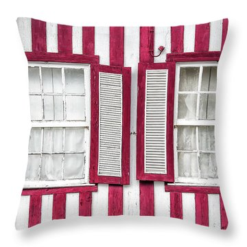 Two Old Windows Throw Pillow