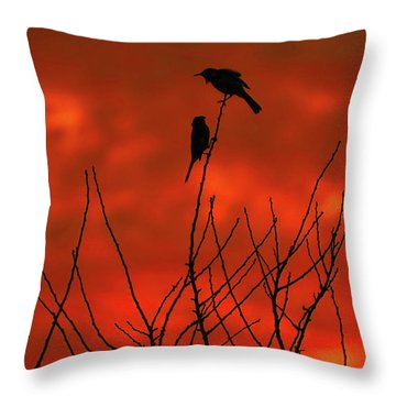 Throw Pillow featuring the photograph Two On A Twig by Mark Blauhoefer