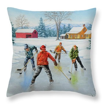 Two On One Throw Pillow