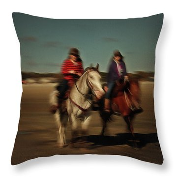 Two On The Road Throw Pillow