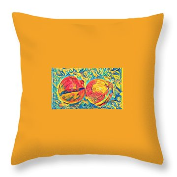 Two Onions Throw Pillow