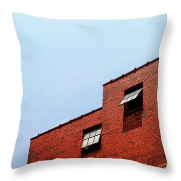 Two Open Windows- Nashville Photography By Linda Woods Throw Pillow
