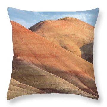 Two Painted Hills Throw Pillow by Greg Nyquist