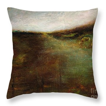 Throw Pillow featuring the painting Two Palominos by Frances Marino