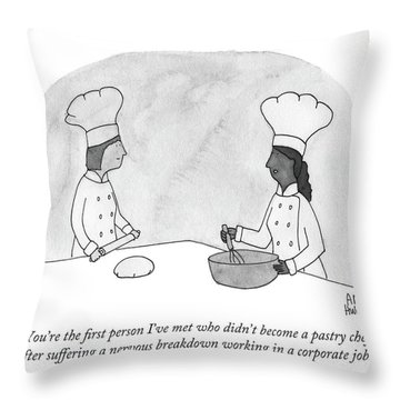 Two Pastry Chefs  Throw Pillow