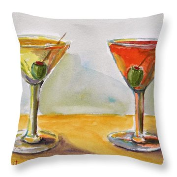 Two Perfect Martinis Throw Pillow