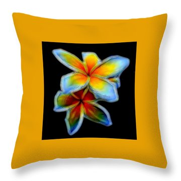Two Plumerias Throw Pillow