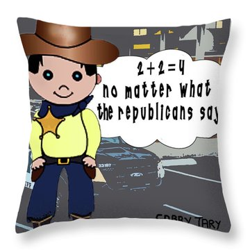 Two Plus Two Throw Pillow