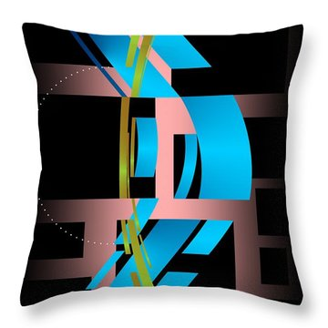 Throw Pillow featuring the digital art Two Possibilities by Leo Symon