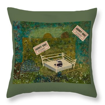 Two Rats Wrestling Throw Pillow