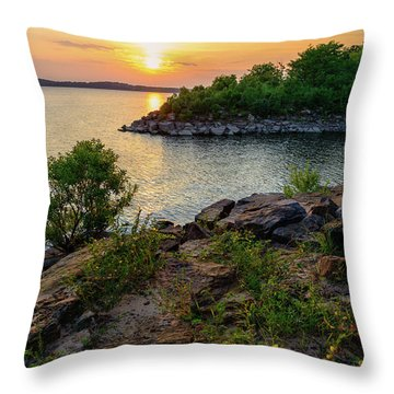 Two Rivers Trail Throw Pillow