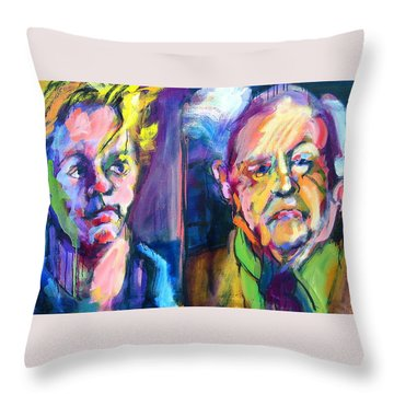 Throw Pillow featuring the painting Two Rooneys by Les Leffingwell