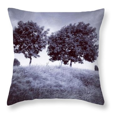 Two Rowans The Cloddies, Nuneaton Throw Pillow by John Edwards