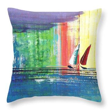 Two Sails Throw Pillow
